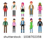 fashioned hipsters. alternative ... | Shutterstock .eps vector #1038702358