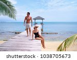 luxury lifestyle and vacation....   Shutterstock . vector #1038705673