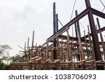 scaffolding wood for small... | Shutterstock . vector #1038706093