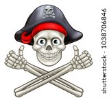 jolly roger pirate skull and...   Shutterstock . vector #1038706846