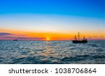 sunset sea horizon landscape | Shutterstock . vector #1038706864