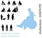 silhouettes of impaired people. | Shutterstock .eps vector #103870799