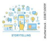 storytelling vector.... | Shutterstock .eps vector #1038710059
