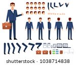 businessman creation kit.... | Shutterstock .eps vector #1038714838