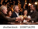 group of middle aged friends... | Shutterstock . vector #1038716290