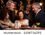 group of middle aged friends... | Shutterstock . vector #1038716293