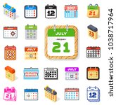 vector calendar icons office... | Shutterstock .eps vector #1038717964