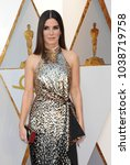 Small photo of Sandra Bullock at the 90th Annual Academy Awards held at the Dolby Theatre in Hollywood, USA on March 4, 2018.