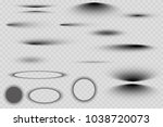 vector shadows isolated. set of ... | Shutterstock .eps vector #1038720073