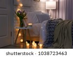 cozy room interior with... | Shutterstock . vector #1038723463