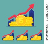 set of financial performance ... | Shutterstock .eps vector #1038724264