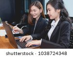 business woman working together ...   Shutterstock . vector #1038724348