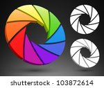 Aperture color wheel 3D logo.