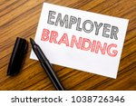 writing text showing employer... | Shutterstock . vector #1038726346