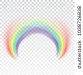 rainbow icon. shape arch... | Shutterstock .eps vector #1038726838