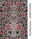 vintage gothic pattern with... | Shutterstock .eps vector #1038727024