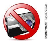 No Photography Sign. Vector...