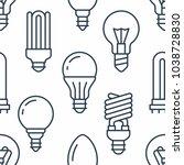 light bulbs seamless pattern... | Shutterstock .eps vector #1038728830