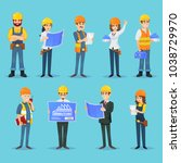 set of icons for various male... | Shutterstock .eps vector #1038729970