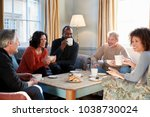 group of middle aged friends... | Shutterstock . vector #1038730024
