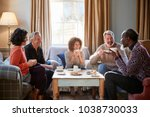 group of middle aged friends... | Shutterstock . vector #1038730033