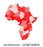africa map vector illustration   Shutterstock .eps vector #1038730858