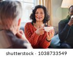 middle aged woman meeting... | Shutterstock . vector #1038733549