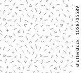 memphis geometric seamless... | Shutterstock .eps vector #1038735589