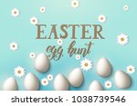 easter poster with eggs ... | Shutterstock .eps vector #1038739546