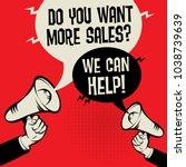 megaphone hand business concept ... | Shutterstock .eps vector #1038739639