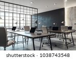 contemporary coworking office... | Shutterstock . vector #1038743548