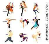 professional dancer people... | Shutterstock .eps vector #1038744724