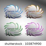 vector stickers for text.   Shutterstock .eps vector #103874900