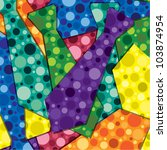 Retro bubbles tie sticker card/background in vector format. - stock vector