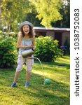 vertical portrait of happy... | Shutterstock . vector #1038752083