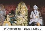 buddha shakyamuni is the symbol ... | Shutterstock . vector #1038752530