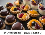catering sweets  event finger... | Shutterstock . vector #1038753550