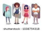 vector illustration set of...   Shutterstock .eps vector #1038754318