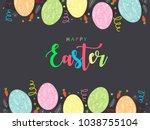 abstract design of easter... | Shutterstock .eps vector #1038755104