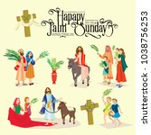 religion holiday palm sunday...   Shutterstock .eps vector #1038756253