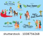 religion holiday palm sunday... | Shutterstock .eps vector #1038756268