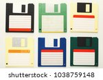 Old floppy disks isolated on...