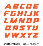 race font. geometrical cursive... | Shutterstock .eps vector #1038761074