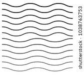 wavy  criss cross  zig zag... | Shutterstock .eps vector #1038763753