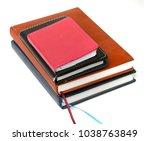 notebooks on white background | Shutterstock . vector #1038763849