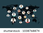 social network  people... | Shutterstock .eps vector #1038768874