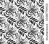 botanical seamless pattern with ... | Shutterstock .eps vector #1038770923