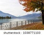 como lake in sorico italy in...   Shutterstock . vector #1038771103