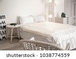light room interior with... | Shutterstock . vector #1038774559