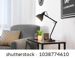 living room interior with... | Shutterstock . vector #1038774610